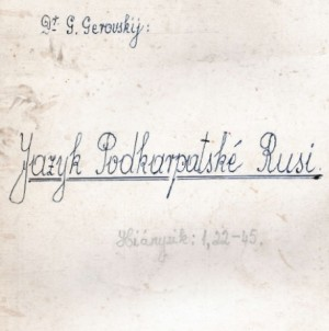 GEROVSKI_Jazyk_Podkarpatskoj_Rusi_cz